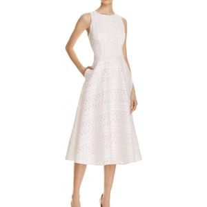 Ted Baker Dresses - Ted Baker | White Pink Reinaa Geo Lace Midi Dress